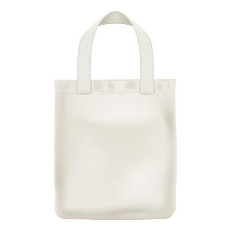 Eco textile tote shopper bag vector illustration. Good for branding design.