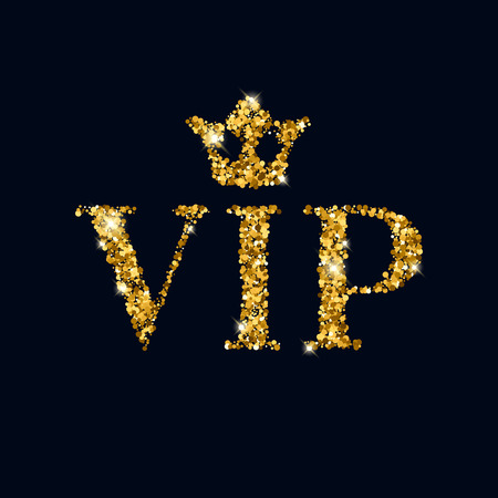 crown of light: VIP abstract golden glow glitter background with crown. Good for invitation greeting card, luxury vip advertising banner poster flyer cover design.