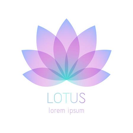 Piękny kwiat lotosu symbol szablon. Dobry dla spa, centrum jogi, salon piękności i medycyny wzorów logo. Ezoteryczna mistyczka znak.