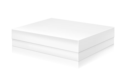 paper product: Paper white box mock-up template. Good for packaging design. Vector illustration. Illustration