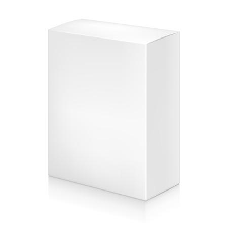 Paper white box mock-up template. Good for packaging design. Vector illustration. Illustration