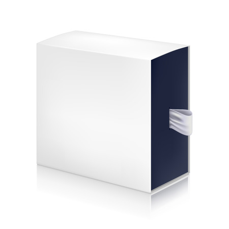 packaging box: Paper white box mock-up template. Good for packaging design. Vector illustration. Illustration