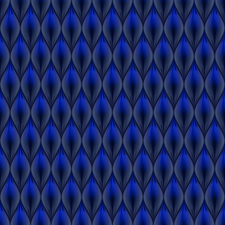 quilted: Quilted simple abstract seamless pattern. Black color colored with blue.