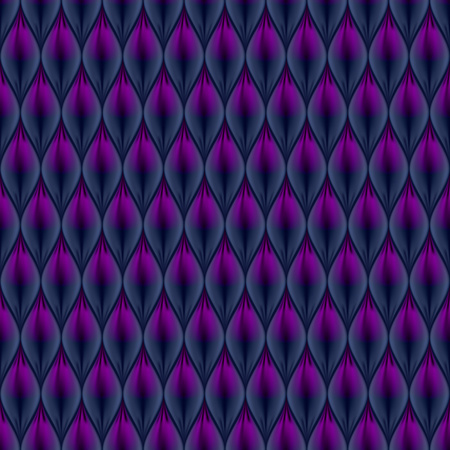 Quilted simple abstract seamless pattern. Black color colored with purple. Illustration