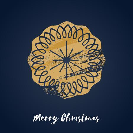iconillustration: Colorful christmas ginger cookie icon.illustration. Good for christmas new year design