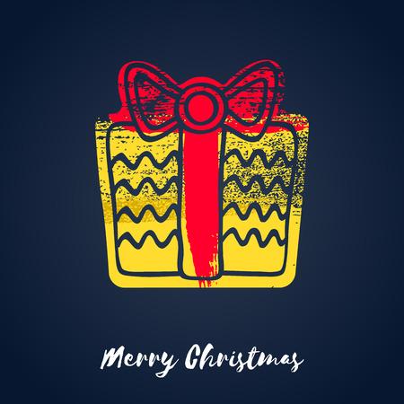 christmas gift box: Colorful christmas gift box icon. illustration. Good for christmas new year design