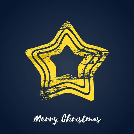 iconillustration: Colorful christmas golden star icon.illustration. Good for christmas new year design