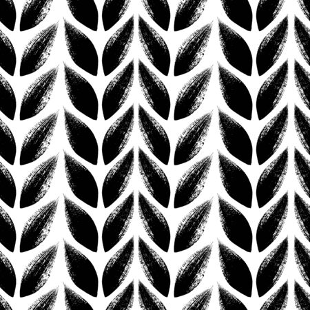 tress: Knitted, tress or wheat ears seamless pattern. Illustration