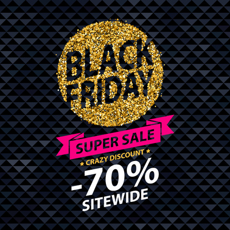 Black friday sale background. Abstract colorful stylish vector illustration. Good for poster banner flyer advertising design. Golden dust form.