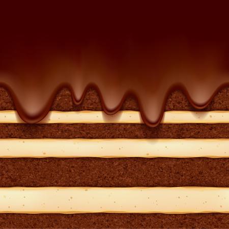 CHocolate sponge cake background. Colorful seamless texture.