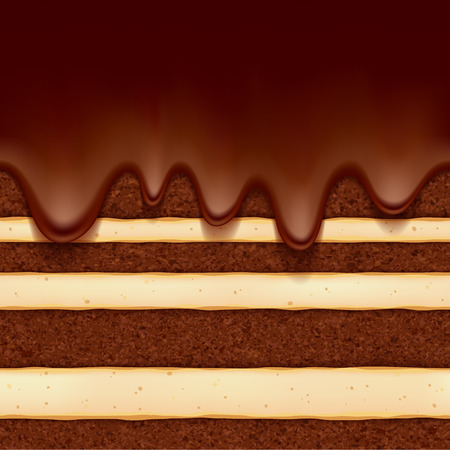 CHocolate sponge cake background. Colorful seamless texture.