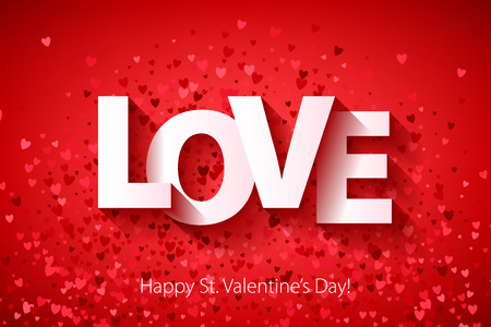 Happy Valentines day poster background. Love symbol.