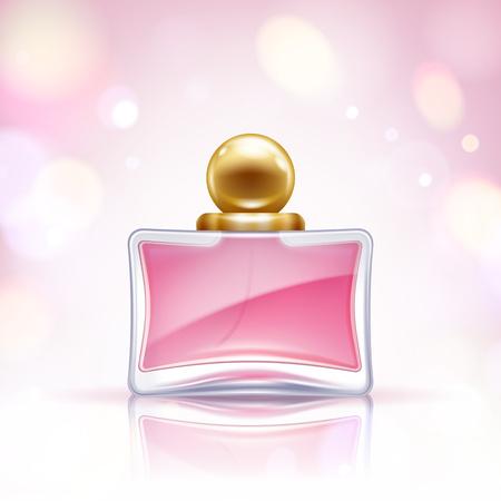 eau de toilette: Perfume bottle vector illustration. Eau de parfum. Illustration