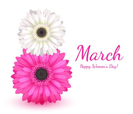 8 march womens day greeting card.