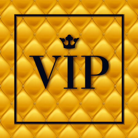VIP abstract golden quilted background.