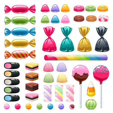 Set of different sweets. Assorted candies. Фото со стока - 74724061