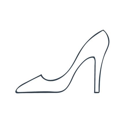 lady's: Ladys shoe icon. Illustration