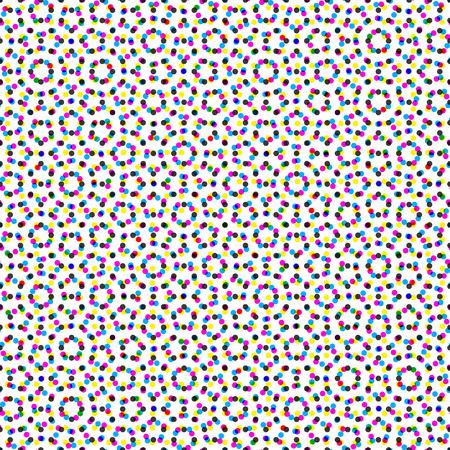 CMYK halftone seamless pattern.