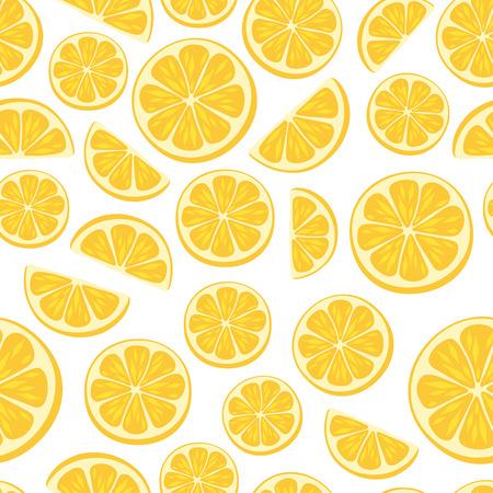 Lemon slices seamless pattern. Illustration