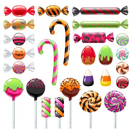 Halloween sweet treats set Vectores