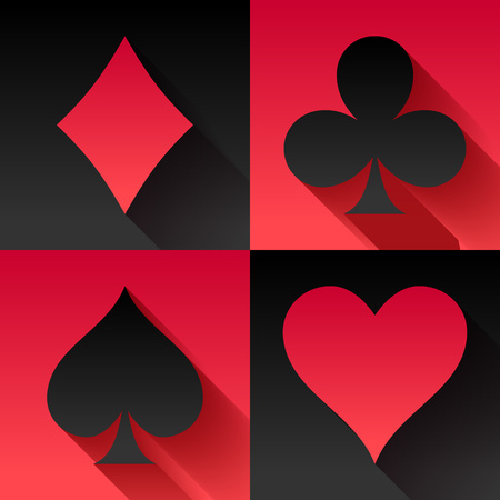 Playing cards suits set vector illustration