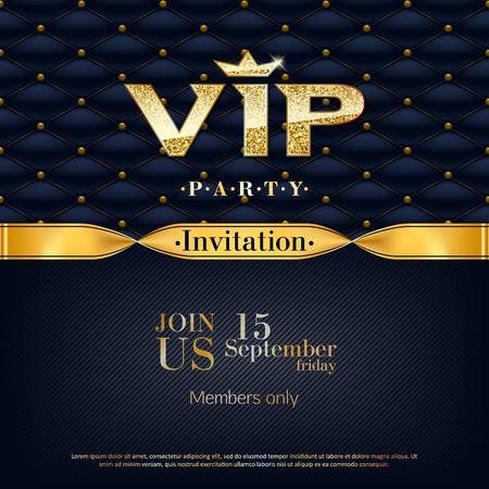 VIP invitation premium design background template. Illustration