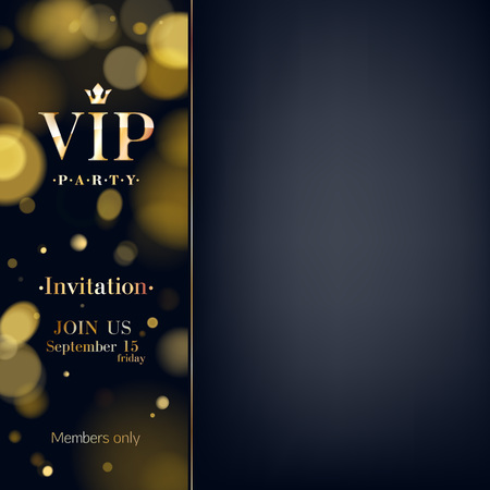 VIP club party premium invitation card poster flyer.
