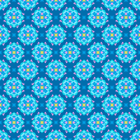 Colorful arabesque seamless beautiful background pattern. Ilustrace