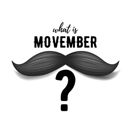 Movember - prostate cancer awareness month. Mens health concept. Moustaches background. Good for poster, banner, card design.
