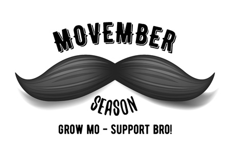 Movember - prostate cancer awareness month. Mens health concept.