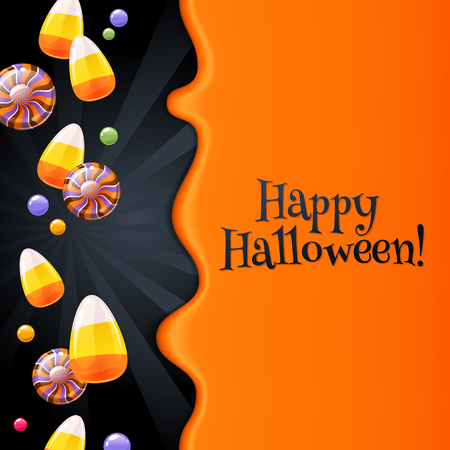 Halloween sweets colorful party background. Foto de archivo - 112870466