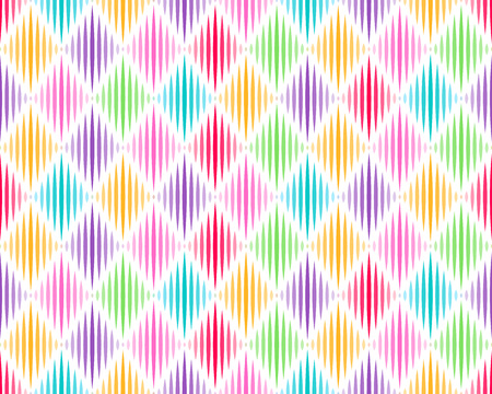 Abstract rhombus seamless background. Colorful geometric pattern.