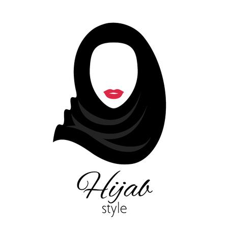 Mujer musulmana con hijab. Hermosa dama árabe.