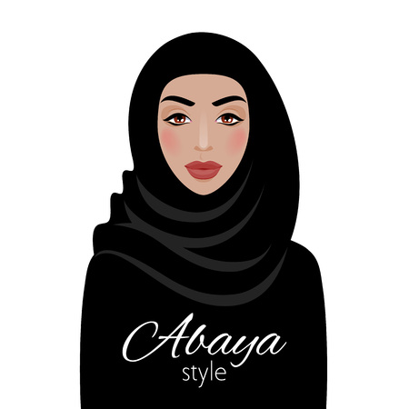 Muslim woman in hijab. Beautiful arabian lady.