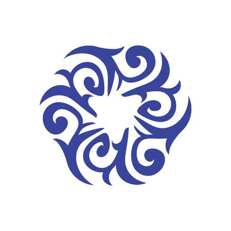 Abstract ethnic symbol vector illustration. Eastern background. Yoga design