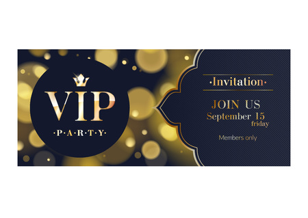 VIP invitation premium design background template. Ilustração