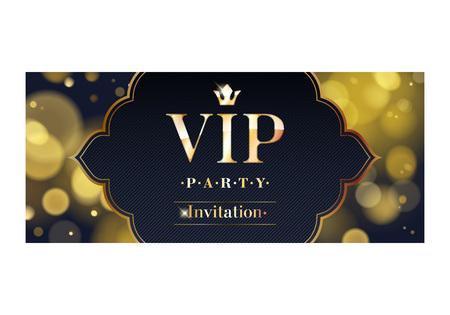 VIP-Einladung Premium Design Hintergrundvorlage. Vektorgrafik