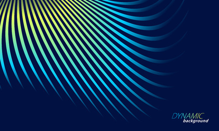 Abstract wavy lines colorful background. Vector illustration. Motion concept. Stock Vector - 125315394