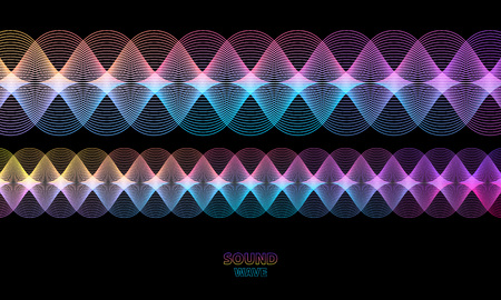 Abstract wave colorful vector background. Music sound or energy concept.
