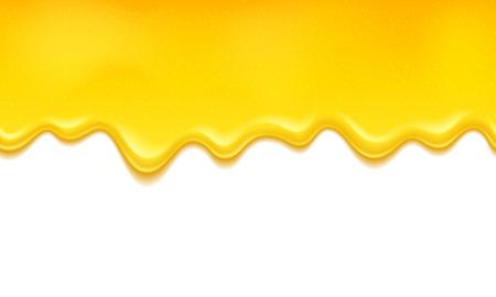 Gouttes de gelée de miel ou de citron. Le miel coule illustration vectorielle. Arrière-plan horizontal sans soudure. Vecteurs
