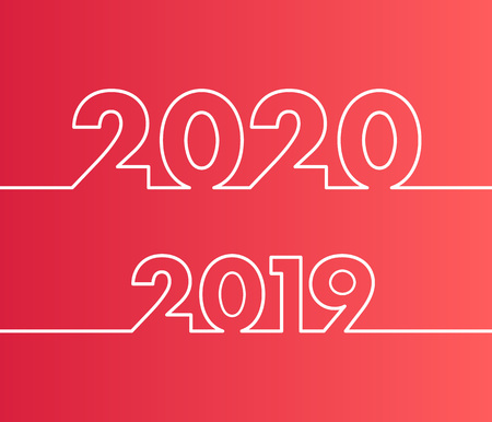 Happy New Year 2020 background. Ilustrace