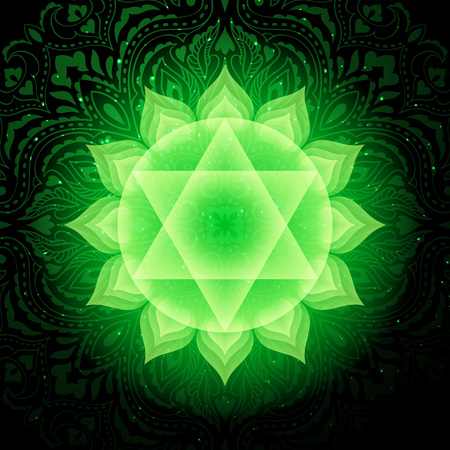 Anahata chakra colorful symbol icon. Heart Chakra.
