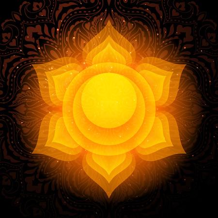 Swadhisthana chakra colorful symbol icon. Sacral Chakra.