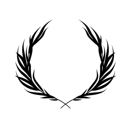 Laurel wreath vector background. Stok Fotoğraf - 132046651