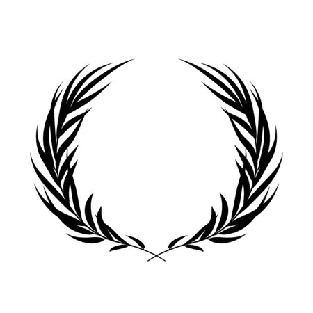 Laurel wreath vector background. Stok Fotoğraf - 132046533