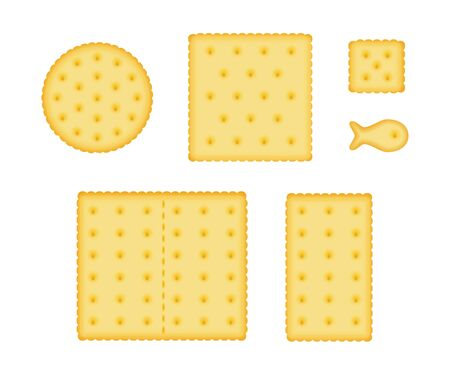 Cracker cookies set. Çizim