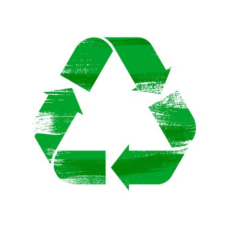 Recycle sign vector illustration. Stock fotó - 132525387