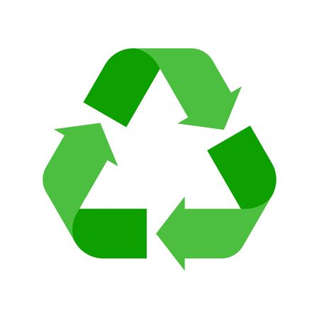 Recycle sign vector illustration. Stock fotó - 132525389