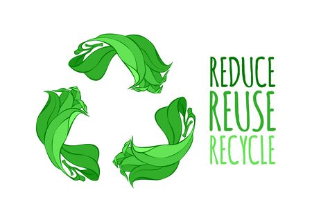 Recycle sign vector illustration. Stock fotó - 132525392
