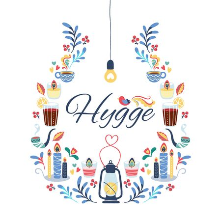 Hygge style background.